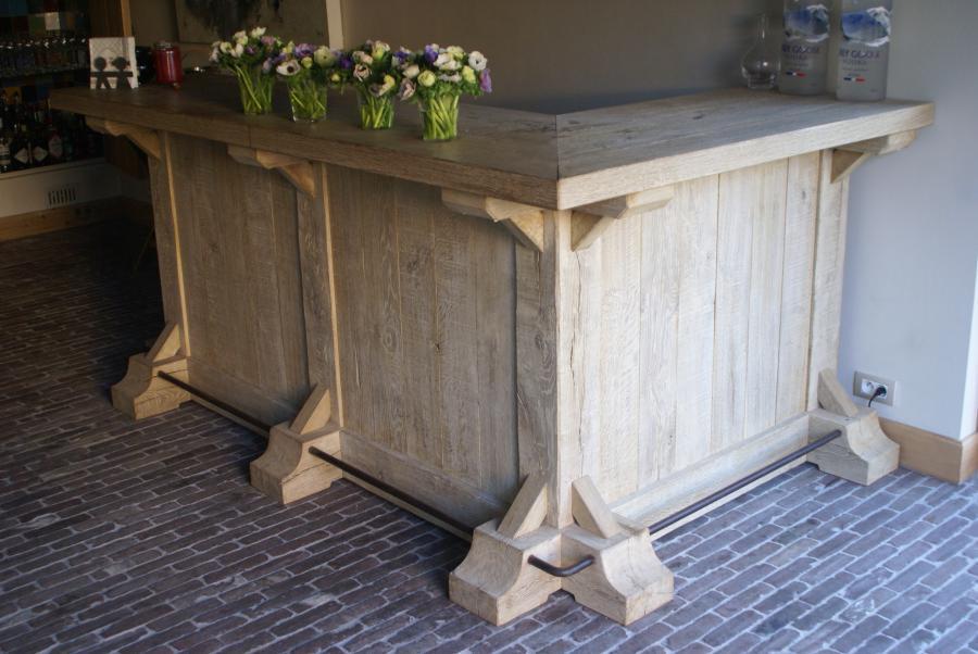 Bar in verouderd eiken schoten joost maas antiek en interieur - Keuken back bar ...